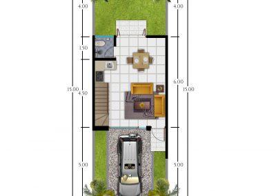 bimaarchitects - Kepanjen type 45-lt.1