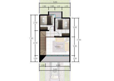 bimaarchitects - Kepanjen type 45-lt.Mezzanine